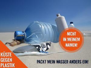Motiv: Küste gegen Plastik
