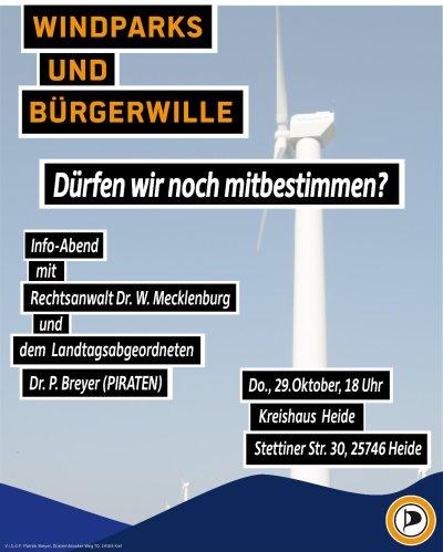 Veranstaltungsplakat-Windenergie