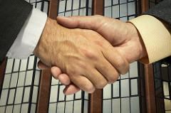 shake hands office photo